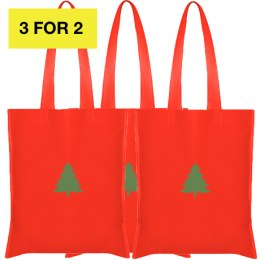 3X jõulukangast kotid 42x38cm